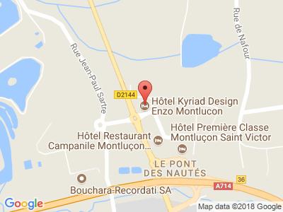 Plan Google Stage recuperation de points à Saint-Victor proche de Montluçon