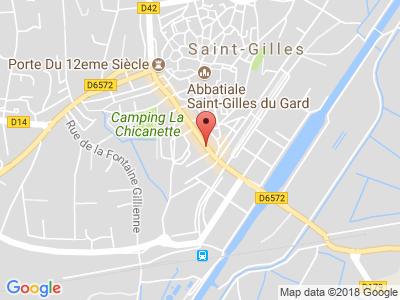 Plan Google Stage recuperation de points à Saint-Gilles proche de Nîmes