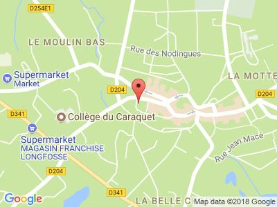 Plan Google Stage recuperation de points à Desvres proche de Boulogne-sur-Mer