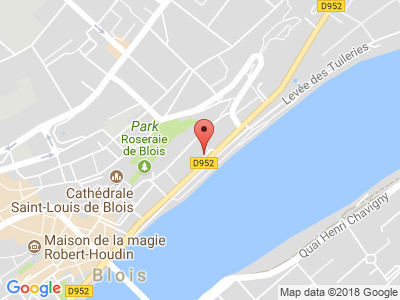 Plan Google Stage recuperation de points à Blois proche de Romorantin-Lanthenay