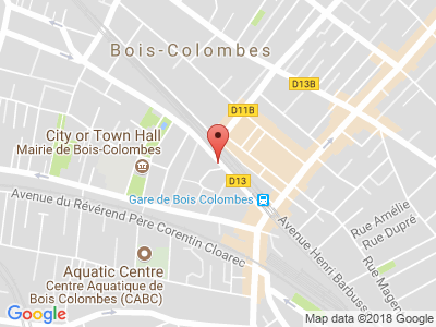 Plan Google Stage recuperation de points à Bois-Colombes proche de Gennevilliers