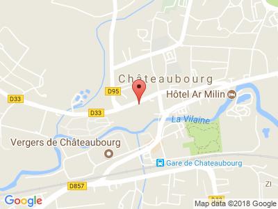 Plan Google Stage recuperation de points à Châteaubourg proche de Fougères