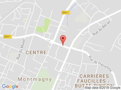 Plan Google Stage recuperation de points à Montmagny proche de Saint-Denis