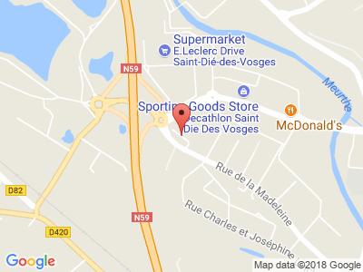Plan Google Stage recuperation de points à Saint-Dié-des-Vosges proche de Colmar