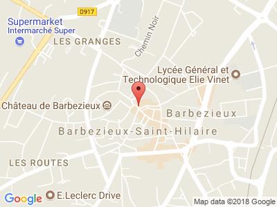 Plan Google Stage recuperation de points à Barbezieux-Saint-Hilaire proche de Cognac