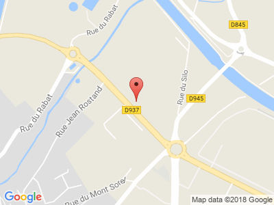 Plan Google Stage recuperation de points à Béthune proche de Fouquières-lès-Béthune