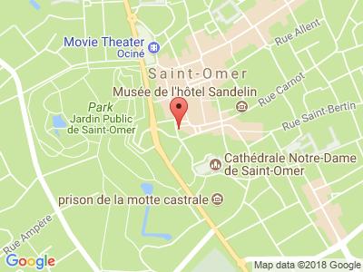 Plan Google Stage recuperation de points à Saint-Omer proche de Hazebrouck