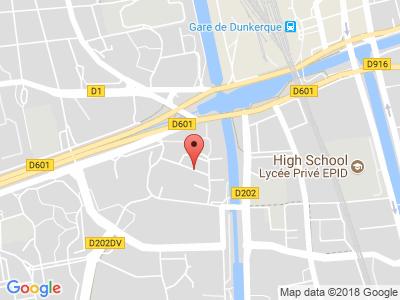 Plan Google Stage recuperation de points à Dunkerque proche de Gravelines