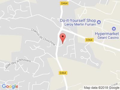 Plan Google Stage recuperation de points à Furiani proche de Borgo