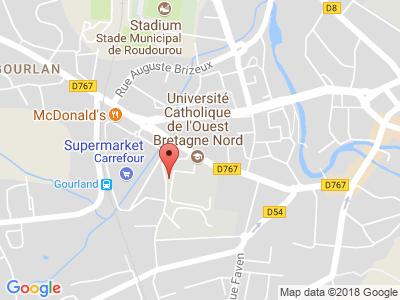 Plan Google Stage recuperation de points à Guingamp proche de Carhaix-Plouguer