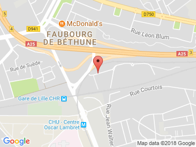 Plan Google Stage recuperation de points à Lille proche de Mons-en-Baroeul