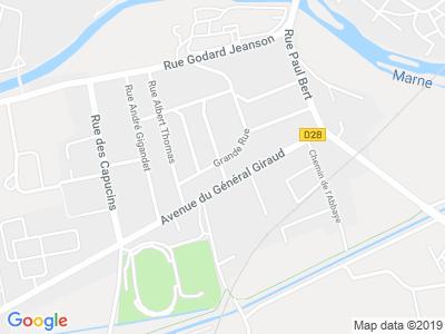 Plan Google Stage recuperation de points à Saint-Dizier