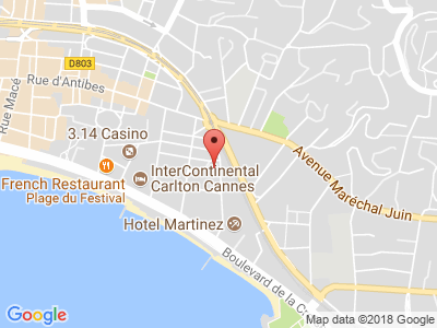 Plan Google Stage recuperation de points à Cannes proche de Antibes