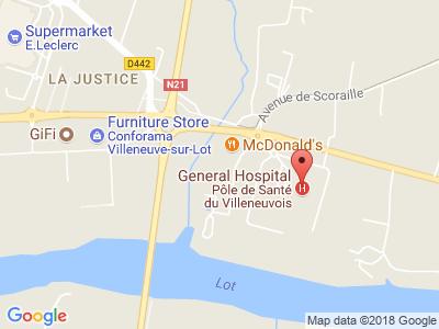 Plan Google Stage recuperation de points à Villeneuve-sur-Lot proche de Estillac