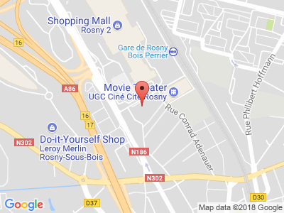 Plan Google Stage recuperation de points à Rosny-sous-Bois