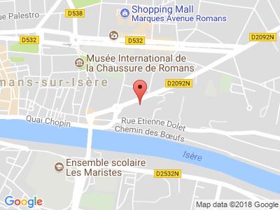 Plan Google Stage recuperation de points à Romans-sur-Isère proche de Albon