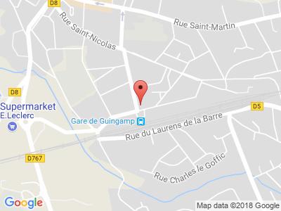 Plan Google Stage recuperation de points à Guingamp proche de Lannion