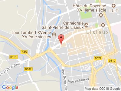 Plan Google Stage recuperation de points à Lisieux proche de Bernay