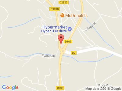 Plan Google Stage recuperation de points à Clermont-l'Hérault proche de Pézenas