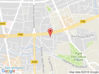 Plan Google Stage recuperation de points à Hyères