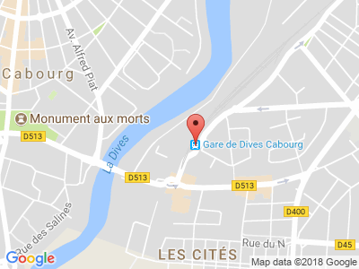 Plan Google Stage recuperation de points à Dives-sur-Mer proche de Caen
