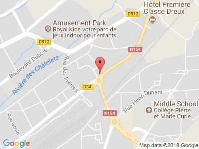 Plan Google Stage recuperation de points à Dreux proche de Chartres