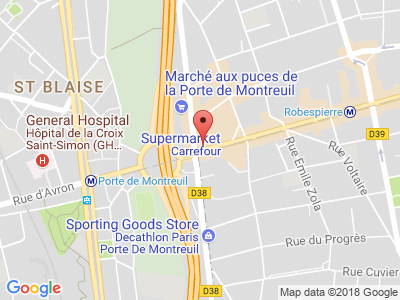 Plan Google Stage recuperation de points à Montreuil