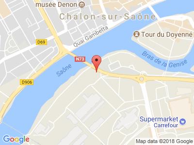 Plan Google Stage recuperation de points à Chalon-sur-Saône proche de Le Creusot