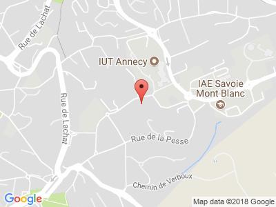 Plan Google Stage recuperation de points à Annecy-le-Vieux proche de Cran-Gevrier