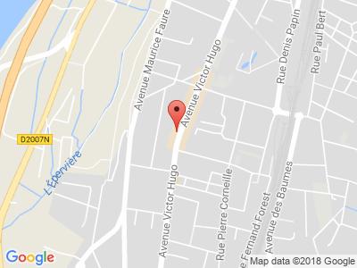 Plan Google Stage recuperation de points à Valence proche de Romans-sur-Isère