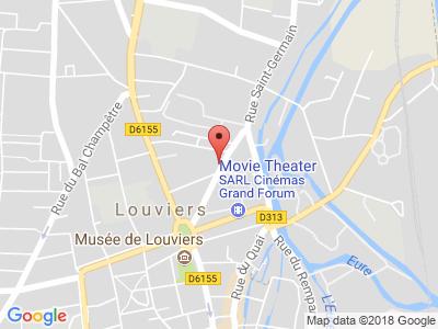 Plan Google Stage recuperation de points à Louviers proche de Saint-Marcel