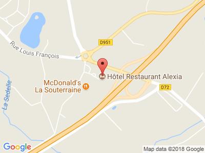 Plan Google Stage recuperation de points à La Souterraine proche de Guéret
