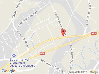 Plan Google Stage recuperation de points à Lescure-d'Albigeois proche de Albi