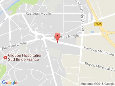 Plan Google Stage recuperation de points à Melun proche de Avon