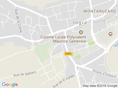 Plan Google Stage recuperation de points à Ingré proche de Châteaudun