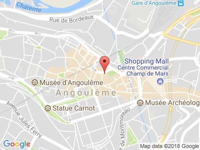 Plan Google Stage recuperation de points à Angoulême proche de Barbezieux-Saint-Hilaire