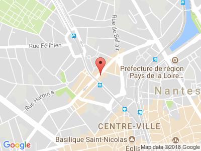 Plan Google Stage recuperation de points à Nantes proche de Saint-Herblain