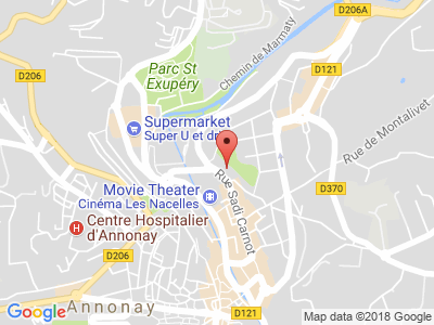 Plan Google Stage recuperation de points à Annonay proche de Albon
