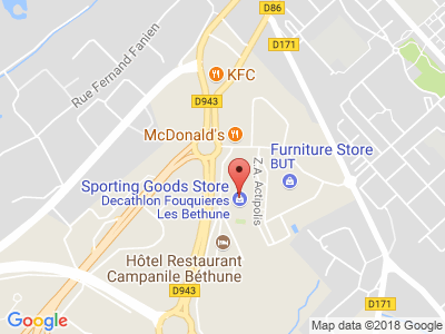 Plan Google Stage recuperation de points à Fouquières-lès-Béthune proche de Bruay-la-Buissière