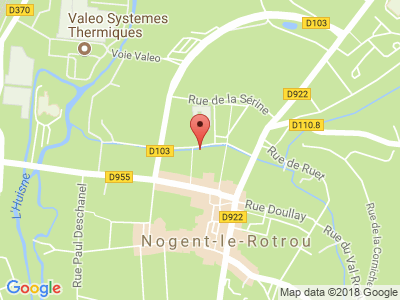 Plan Google Stage recuperation de points à Nogent-le-Rotrou