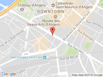 Plan Google Stage recuperation de points à Angers proche de Saint-Sylvain-d'Anjou