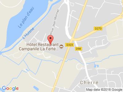 Plan Google Stage recuperation de points à La Ferté-Bernard proche de Nogent-le-Rotrou