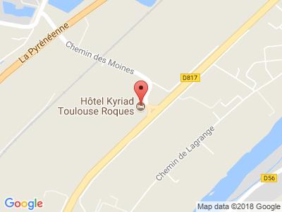 Plan Google Stage recuperation de points à Roques proche de Portet-sur-Garonne