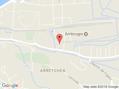 Plan Google Stage recuperation de points à Mouguerre proche de Lahonce