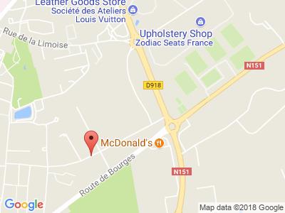 Plan Google Stage recuperation de points à Issoudun proche de Déols