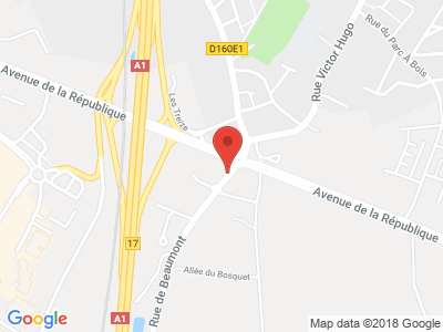 Plan Google Stage recuperation de points à Noyelles-Godault proche de Carvin