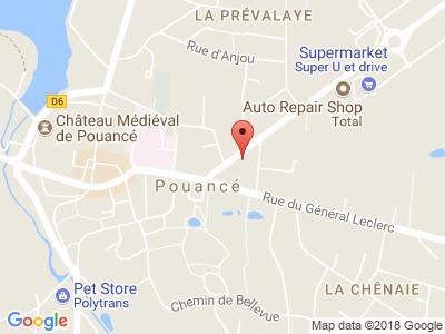 Plan Google Stage recuperation de points à Pouancé proche de Ancenis