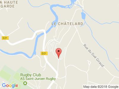 Plan Google Stage recuperation de points à Saint-Junien proche de Limoges