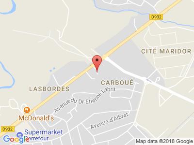 Plan Google Stage recuperation de points à Mont-de-Marsan proche de Saint-Pierre-du-Mont