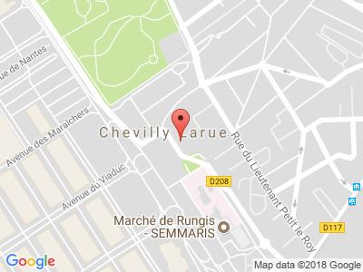 Plan Google Stage recuperation de points à Rungis proche de Fresnes